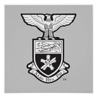 AHP Crest - B W Poster