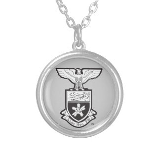 AHP Crest - B&W Round Pendant Necklace