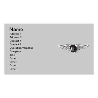 AHP Wings - B&W Double-Sided Standard Business Cards (Pack Of 100)