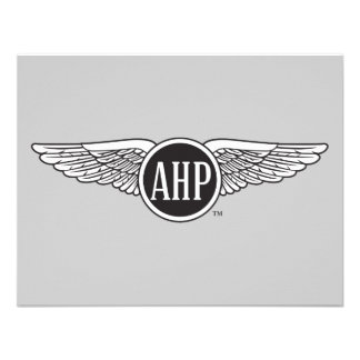 AHP Wings - B W Personalized Invite