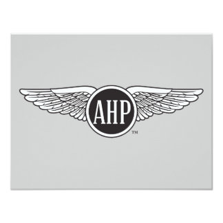 AHP Wings - B&W Personalized Invite