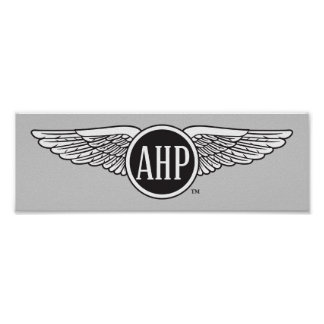 AHP Wings - B&W Poster