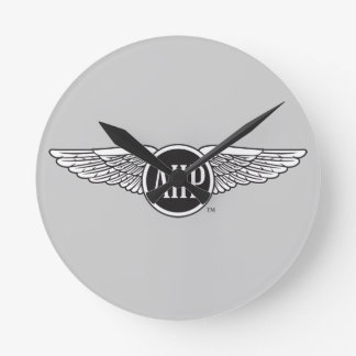 AHP Wings - B&W Round Clock