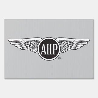 AHP Wings - B&W Sign