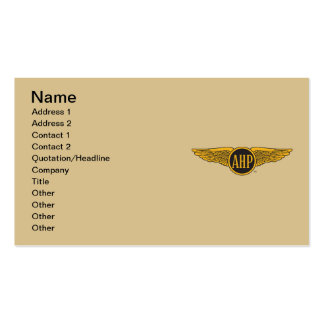 AHP Wings - Color Double-Sided Standard Business Cards (Pack Of 100)
