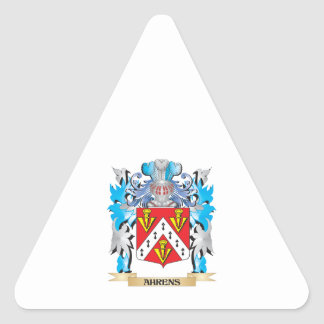 Ahrens Coat Of Arms Triangle Sticker