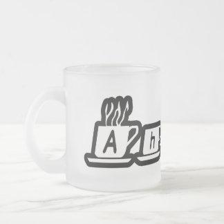 Ahron Frosted Glass Coffee Mug