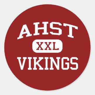 AHST - Vikings - AHST Middle School - Shelby Iowa Classic Round Sticker