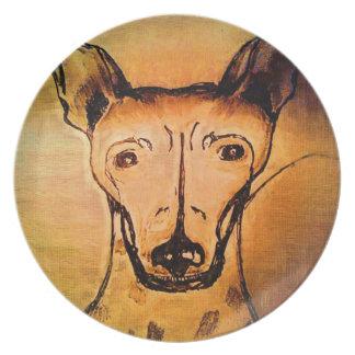 AHT American hairless terrier by Rachel Melamine Plate
