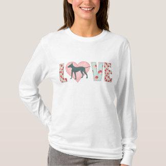"AHT Shabby Chic ""Love"" Women's Long Sleeve Shirt"