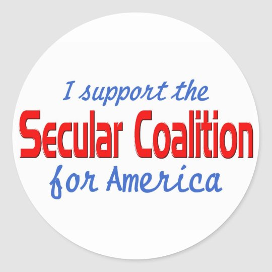 AHTEISM AND SECULAR COALITION CLASSIC ROUND STICKER
