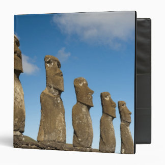 Ahu Akivi, Rapa Nui, Easter Island, Chile 2 3 Ring Binders