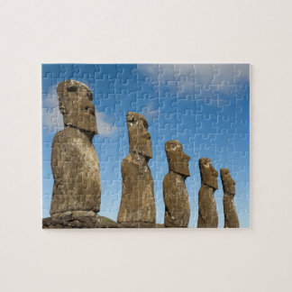 Ahu Akivi, Rapa Nui, Easter Island, Chile 2 Jigsaw Puzzle