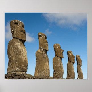 Ahu Akivi, Rapa Nui, Easter Island, Chile 2 Poster