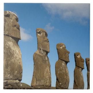 Ahu Akivi, Rapa Nui, isla de pascua, Chile 2 Azulejo Cuadrado Grande