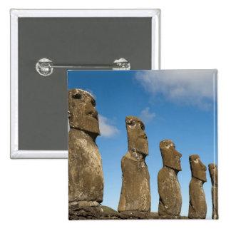 Ahu Akivi, Rapa Nui, isla de pascua, Chile 2 Pin Cuadrada 5 Cm