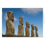 Ahu Akivi, Rapa Nui, isla de pascua, Chile 2 Tarjeta De Felicitación
