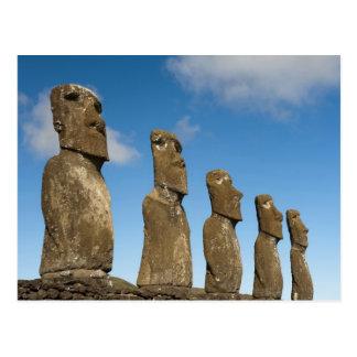 Ahu Akivi, Rapa Nui, isla de pascua, Chile 2 Tarjetas Postales