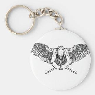 Ahura winged disk skull keychains