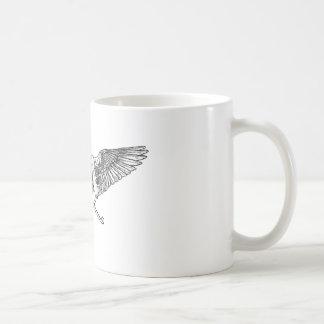 Ahura winged disk skull classic white coffee mug