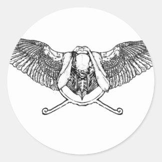 Ahura winged disk skull sticker