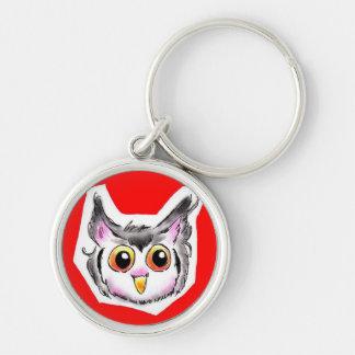 ahurikaookonohazuku Silver-Colored round keychain