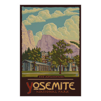 Ahwahnee Lodge - Yosemite Nat'l Park Travel Poster