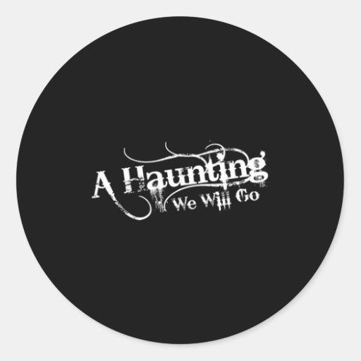AHWWG White Logo Black Background(1 Inch Logo) Stickers