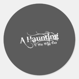 AHWWG White Logo Gray Background(1 Inch Logo) Classic Round Sticker