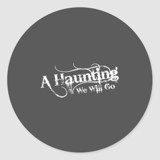AHWWG White Logo Gray Background(1 Inch Logo) Round Sticker
