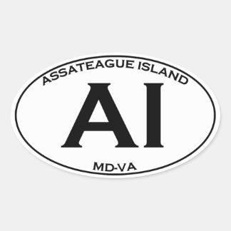 AI  - Assateague Island Oval Logo Oval Sticker