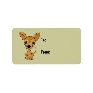 AI- Awesome Chihuahua Gift Tags Address Label