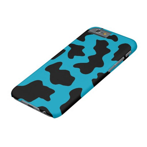 AI Blu Cow Print Editable Barely There iPhone Case