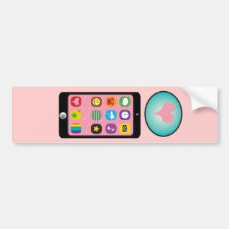 ai_Letter_I_i-phone CUTE GIRLY IPHONE PHONE GRAPHI Bumper Sticker