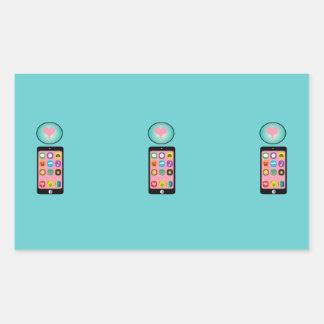 ai_Letter_I_i-phone CUTE GIRLY IPHONE PHONE GRAPHI Rectangular Sticker