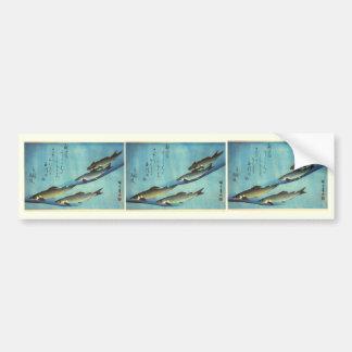 Ai (Trout) - Hiroshige's Japanese Fish Print Bumper Sticker