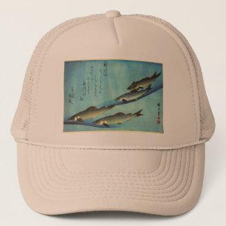 Ai (Trout) - Hiroshige's Japanese Fish Print Trucker Hat