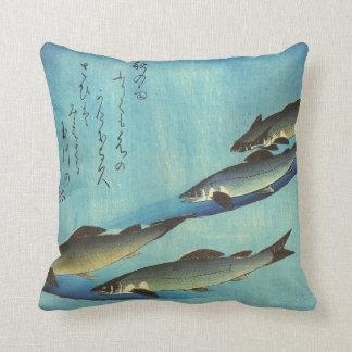 Ai (trucha) - impresión japonesa de los pescados cojín decorativo