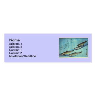 Ai (trucha) - impresión japonesa de los pescados d tarjetas de negocios