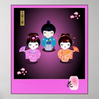 Ai--Yume al poster de Kokeshi Póster