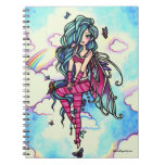 Aia Fairy Butterfly Sky Fairy Spiral Notebook