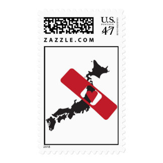 Aid Japan with Love 愛で日本を助ける切手 Postage