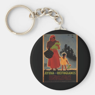 Aid to refugees (1938)_Propaganda Poster Keychain