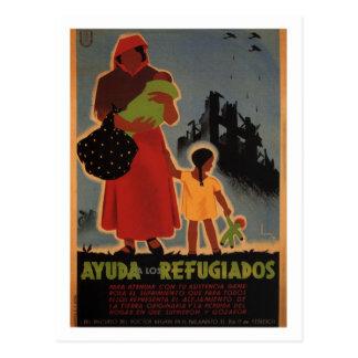 Aid to refugees (1938)_Propaganda Poster Postcard