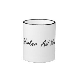 Aid Worker Artistic Job Design Ringer Coffee Mug