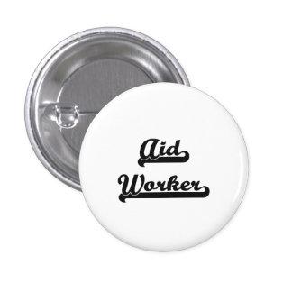 Aid Worker Classic Job Design 1 Inch Round Button