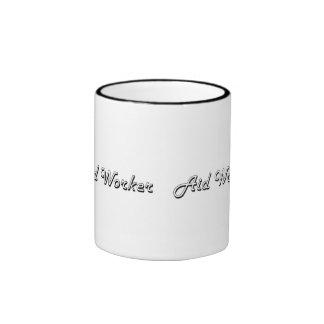 Aid Worker Classic Job Design Ringer Coffee Mug