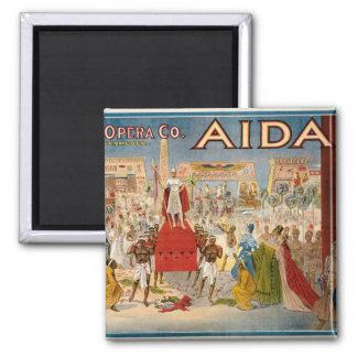 Aida at the Hippodrome 1908 2 Inch Square Magnet