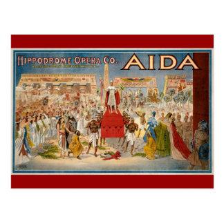 Aida at the Hippodrome 1908 Postcard