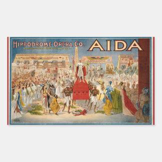Aida at the Hippodrome 1908 Rectangular Sticker